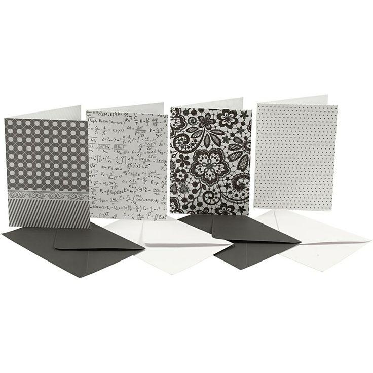 'Blanco' kaarten in Vivi Gade Paris Serie! Ook zonder verdere decoratie zijn dit prachtige kaarten. Maar ze zijn dus bedoeld als 'blanco kaart' voor kaarten maken..