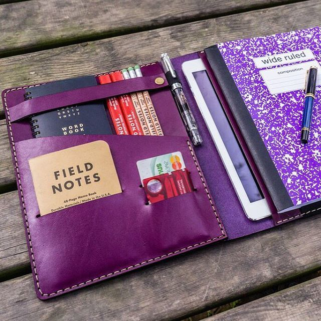 #Purple is not our favorite color. But it looks very good on our leather #journals  #everydaycarry #leather #organizer #moleskine #notebook #kaweco #pelikan #iphone #fieldnotes #ipad #troika #victorinox #planner #travelersnotebook #planner #planneraddict #beatiful #accessories #edc #gadget #stationery #organizing #navy #nofilter #handmade #analog #travel #journey #adventure