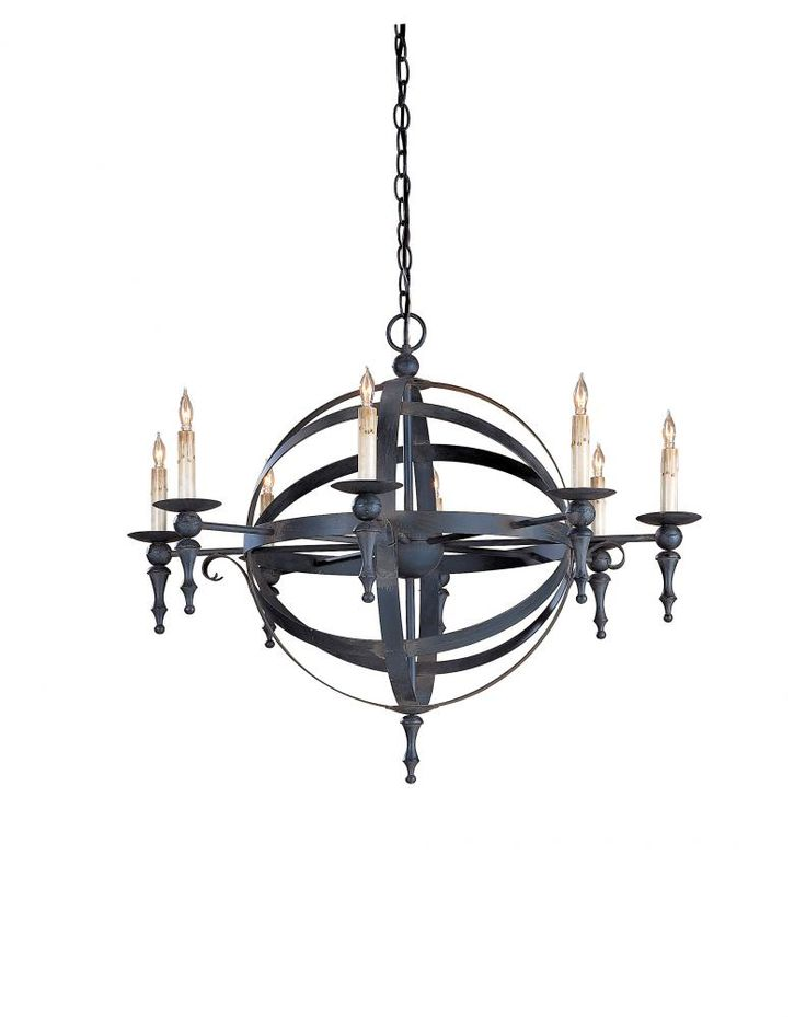 Black Finish Globe Chandelier w/ Candelabra Lights | Dulles Electric Supply Corp.  sc 1 st  Pinterest & 21 best Globe Chandeliers images on Pinterest | Chandeliers Globe ... azcodes.com