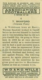1939-40 W.D. & H.O. Wills Association Footballers #4 Thomas Bamford Back