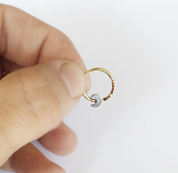 Moon Septum Ring Gold Filled Septum Ring Gold Moon Septum Ring