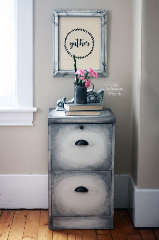 Old World Finish Filing Cabinet #DIY #furniturepaint #paintedfurniture #homedecor #chalkpaint #filingcabinet #rustic #storage #countrychicpaint - blog.countrychicpaint.com