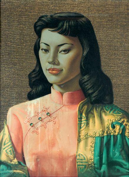 Tretchikoff Miss Wong Cushion
