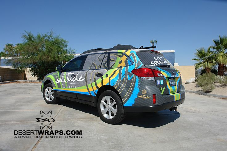 Subaru Outback high quality and high resolution vinyl wrap. Wrap install by DesertWraps.com located in Palm Desert, CA. 760-935-3600