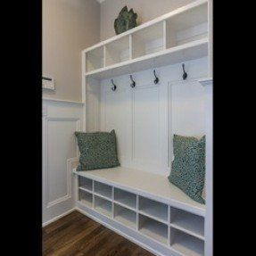 builtin entryway benches and coatracks | ... Built-in Hall tree with