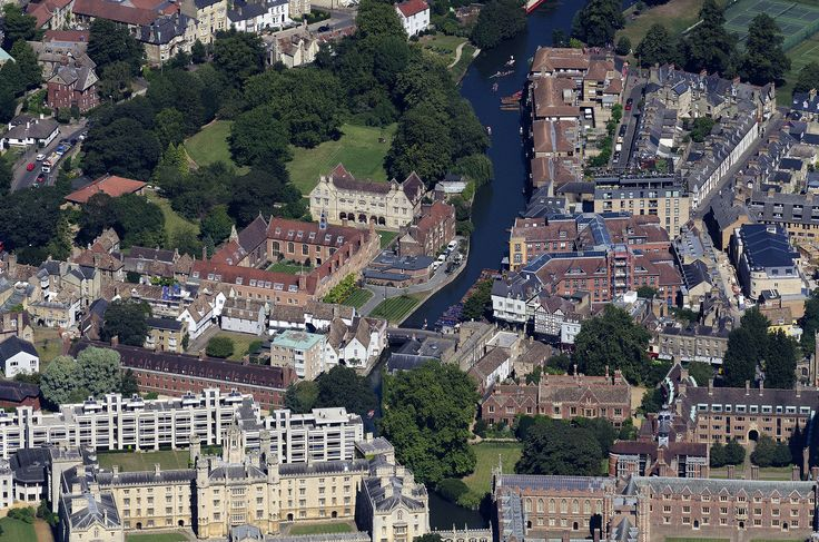 River Cam in Cambridge - aerial image | by John Fielding #cambridge #magdalene #college #aerial #river #cam