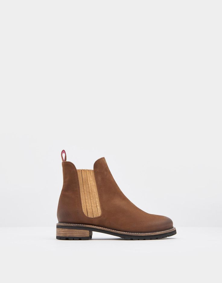 Clarendon Brown Leather Chelsea Boot    Joules US