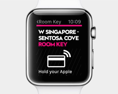 Apple Watch being used as smart key in Sentosa Singapore.
