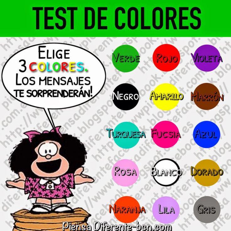 ¡¡Te sorprenderás de los resultados!! Elige 3 colores uno por vez sin detenerte a pensar, no debes cambiar el orden una vez elegido porque no te servirá hacer trampa! Ahora continua con las instruc…