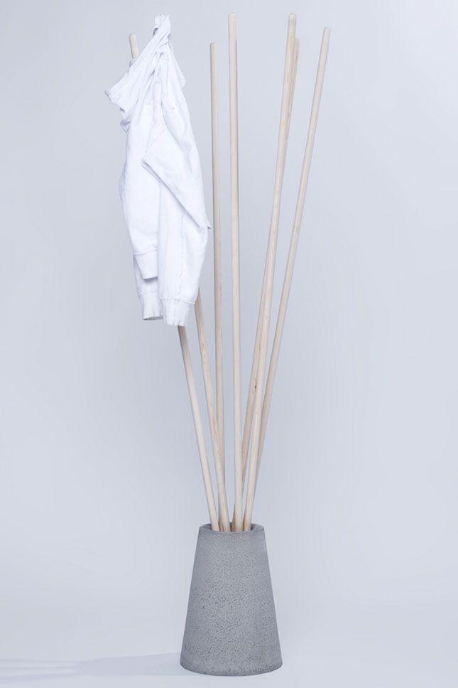 DIY mit Beton   Design Garderobenständer   Garderobe   Handtuchhalter   Basteln mit Beton   Selber machen mit Beton   coat rack?