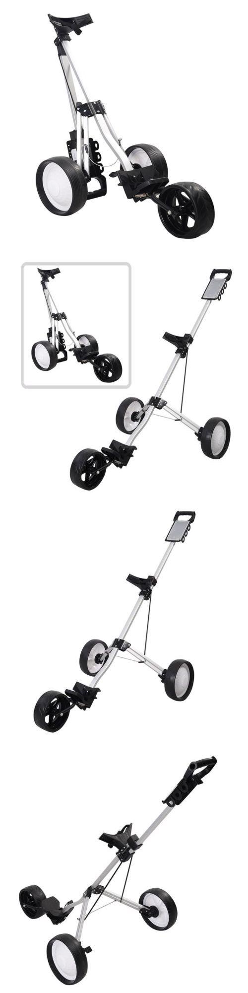 Push-Pull Golf Carts 75207: Foldable 3 Wheel Push Pull Golf Cart Folding Trolley Three Wheels Swivel New Hot -> BUY IT NOW ONLY: $53.69 on eBay!