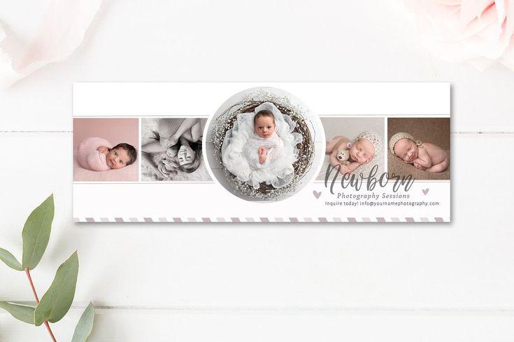 Newborn Photographer Facebook Timeline Cover - Photographer Facebook Timelines - INSTANT DOWNLOAD by ByStephanieDesign on Etsy