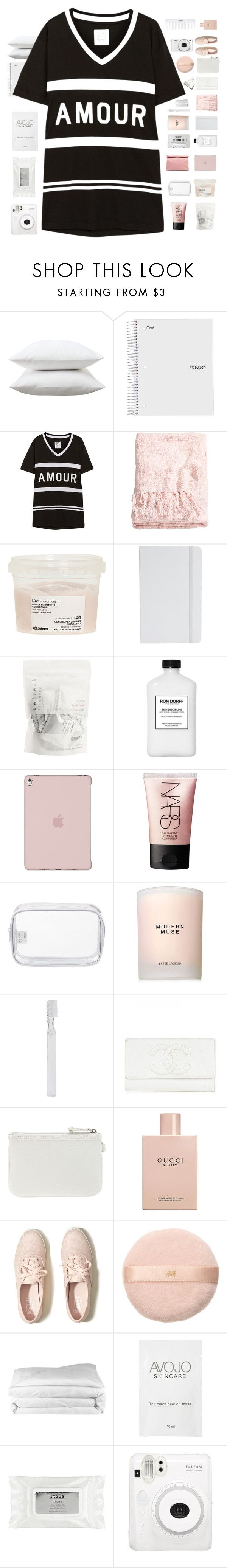 """""""in the middle of the night ♥ mondays outfit"""" by midnight-shimmer ❤ liked on Polyvore featuring Fieldcrest, Zoe Karssen, H&M, Davines, ASOS, Ron Dorff, NARS Cosmetics, Marie Turnor, John Lewis and CASSETTE"""
