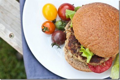 Eggplant burger - yet to be tested