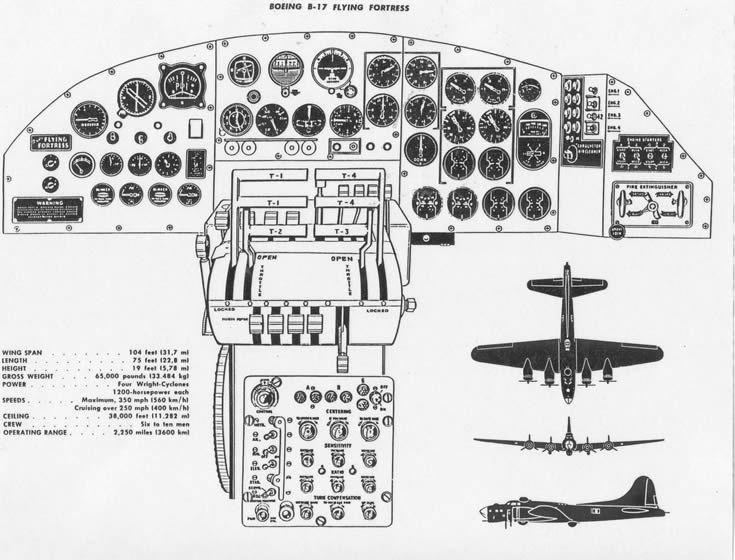 b-17 flying fortress cockpit schematic | Vliegtuigen | Pinterest ...