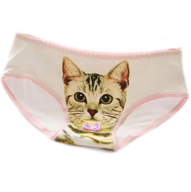 $7.42 Hot Selling Cotton Panties Women's Plus Size Underwear Briefs 3D Printing Panty Cat Panties Sexy Girls Intimates new fashion#CM