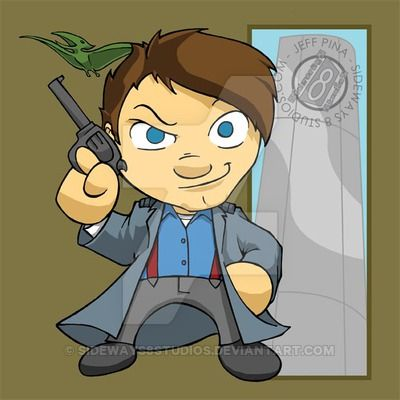Torchwood - Chibi Captain Jack Harkness by Sideways8Studios