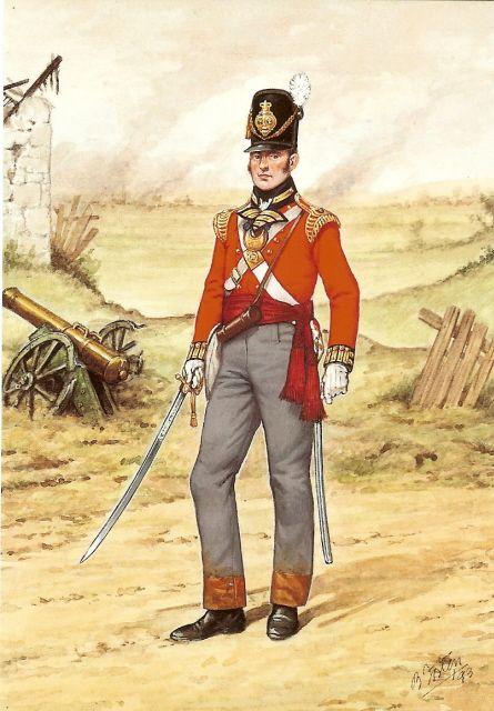 Officer 23rd Foot 1815.