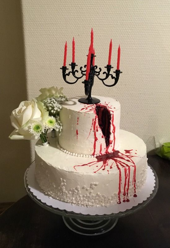 Halloween blood cake