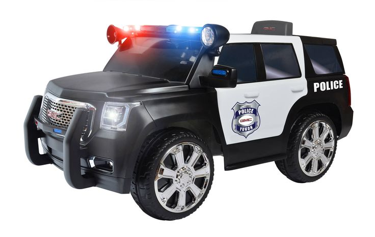 RollPlay 6V GMC Yukon Denali Police Truck Ride-On - Walmart.com