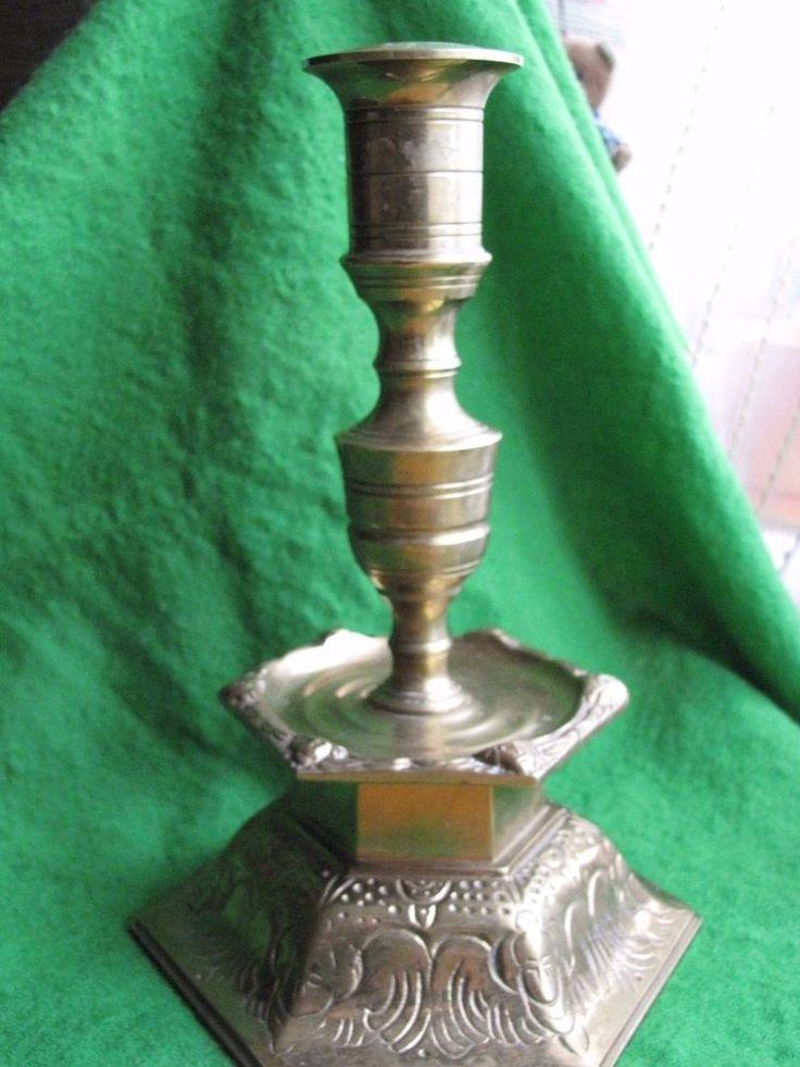 Vintage Candelabra Ystad Metall bronze Sweden candlestick antique metalware