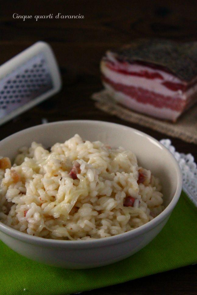 risotto pancetta e toma