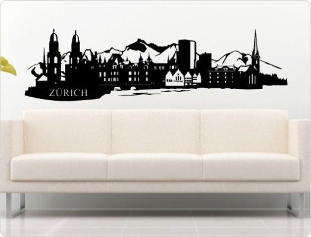♥ Zürich Wandtattoo Skyline ♥ N306