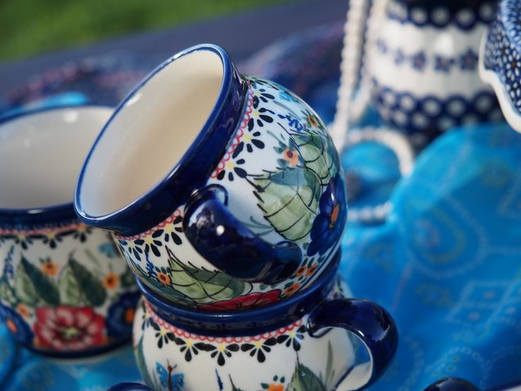Polish pottery espresso cups from The Meadow Range