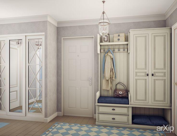 Фото Прихожая в стиле прованс - интерьеры, зd визуализация, прихожая, холл, вестибюль, фойе, квартира, дом, французский, прованс, 0 - 10 м2, интерьер