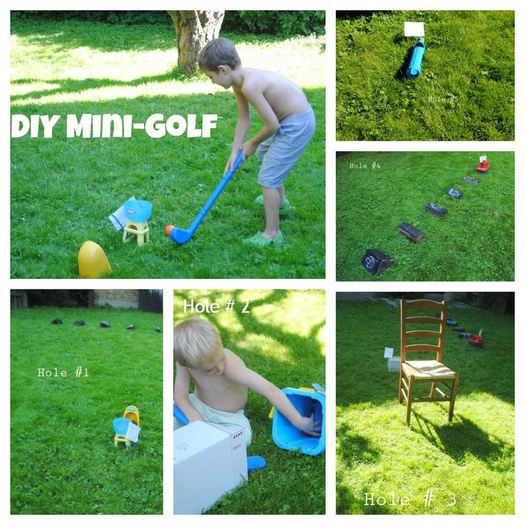 DIY Mini Golf For The Back Yard.
