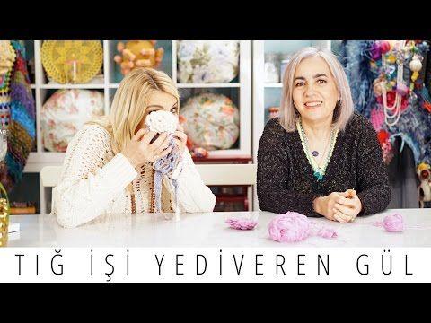 Tığ İşi Yediveren Gül Nasıl Yapılır   Derya Baykal - YouTube