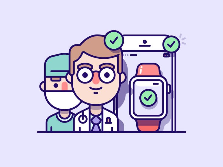 The more detailed set created for a Medical clients iOS app.  The illustration is displaying: 'Import data from your doctors and devices'  Keen to hear your thoughts and don't forget to click L