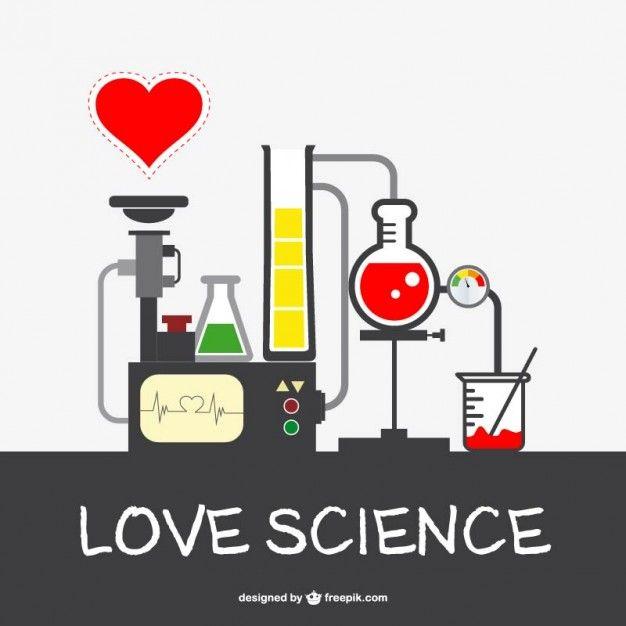 Vector amar la ciencia Vector Gratis