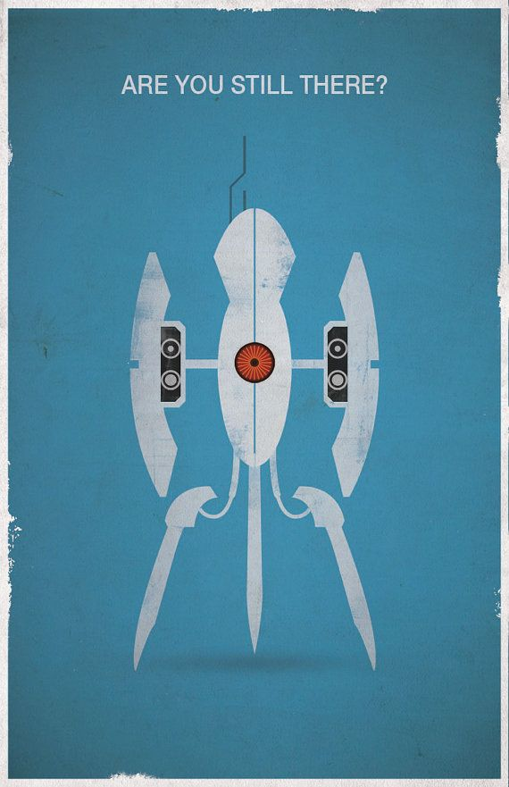 19 best gaming posters images on pinterest videogames posters and portal are you still there video game poster by westgraphics ccuart Choice Image