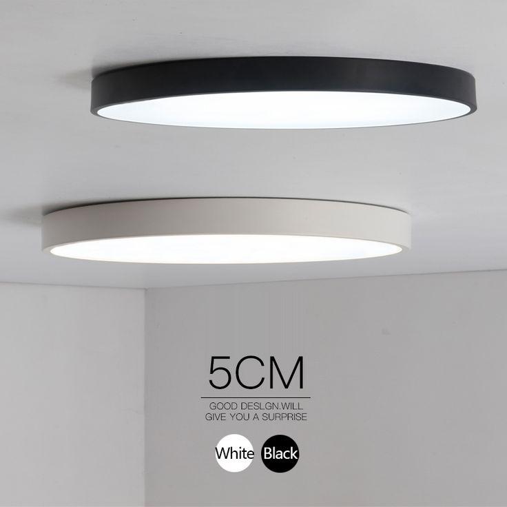 Minimalistische Zwart/Wit art moderne led plafond verlichting voor slaapkamer kinderkamer Ronde vierkante led thuis indoor plafondlamp armatuur