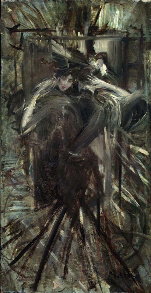 Giovanni Boldini Signora allo specchio (Dalla modista), 1896