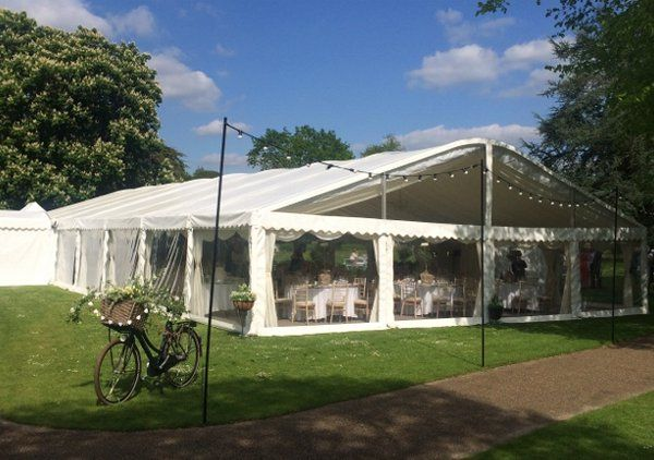 One of our 12m marquees with curved roof at Westdene College, Hampshire