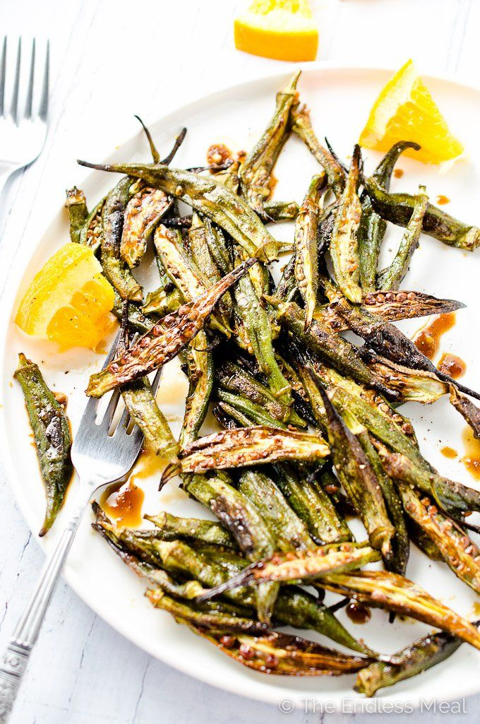 This easy to make and healthy roasted okra is slightly crispy and has the most beautiful orange zing to it. These unexpected flavours are incredible.