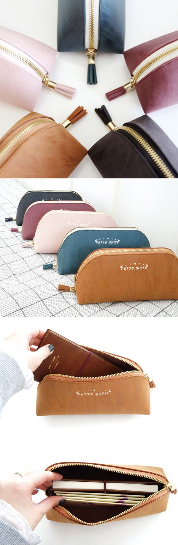 A wonderful pouch as it is spacious and useful! Can be used as everyday pouch for daily essentials, pen pouch and toiletry pouch when you go traveling! The cute tassel attached is a lovely bonus feature!