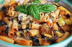 Ricetta siciliana per la pasta alla norma   Ricette di Sicilia