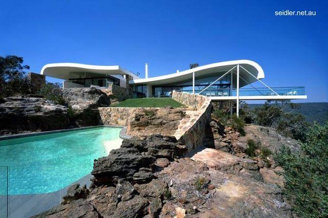 Casa de playa contempor nea australiana techos ondulados for Casa moderna 99 arena