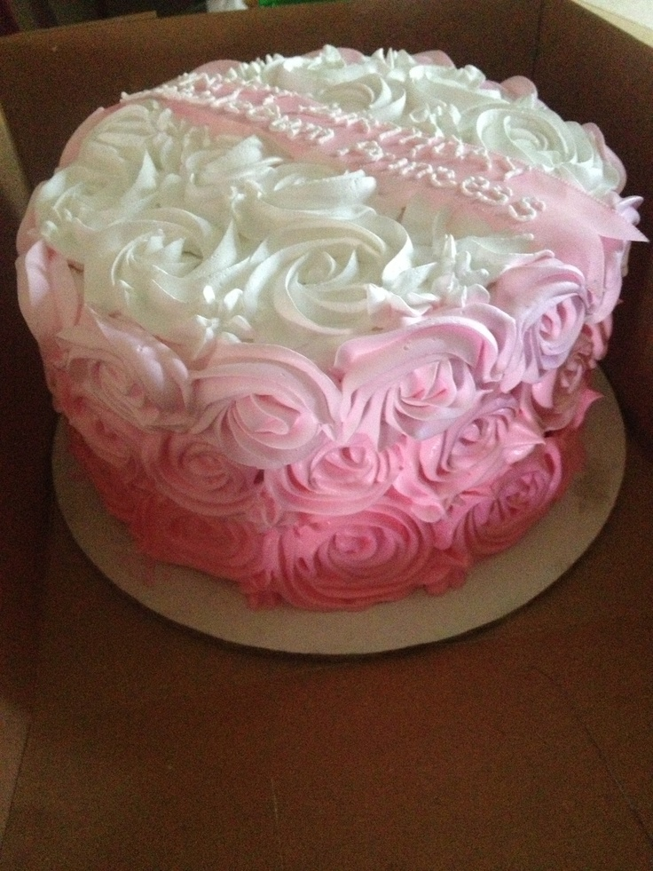 Pink Rosette Cake Images : Pinterest: Discover and save creative ideas
