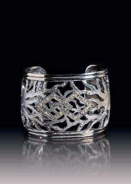 JPratt Designs: Custom designed and custom created cuff bracelet with an Africa symbol motif