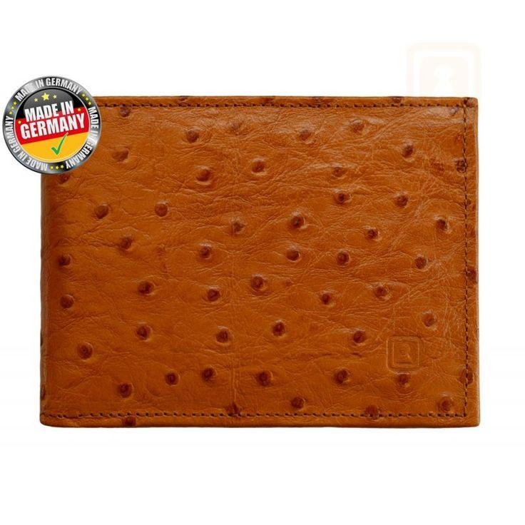 RFID Geldbörse / Geldbeutel Louis Strauß Cognac, RFID Geld