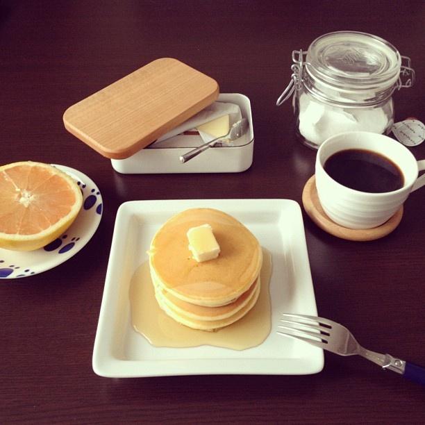 ホットケーキ  #ホットケーキ #朝ごはん - @sep18s- #webstagram