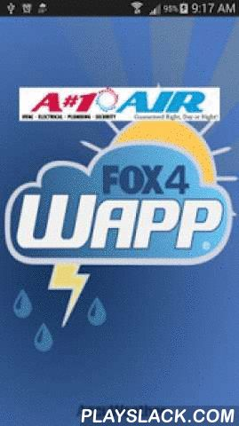 FOX 4 KDFW WAPP  Android App - playslack.com ,  The WAPP, KDFW FOX 4's weather app delivers detailed real-time weather information to users in Dallas, Fort Worth, and all North Texas, including exclusive video forecasts from the FOX 4-warn weather team Features Exclusive video forecasts and reports from KDFW's FOX 4-warn weather team of meteorologists •Highly responsive interactive map optimized for 3G and WiFi performance •Option to enable specific geolocation tracking for precise…