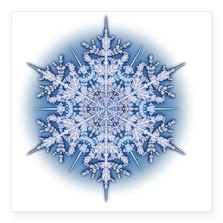 """Snowflake Designs - 034 Square Sticker 3"""" x 3"""""""