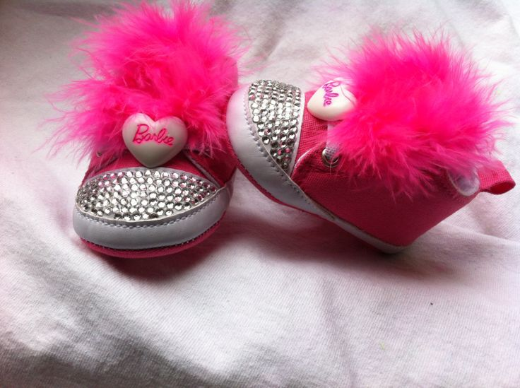 Hot+Pink+Barbie+BLING+Baby+Shoes+by+BLittleByChelsea+on+Etsy,+$25.00