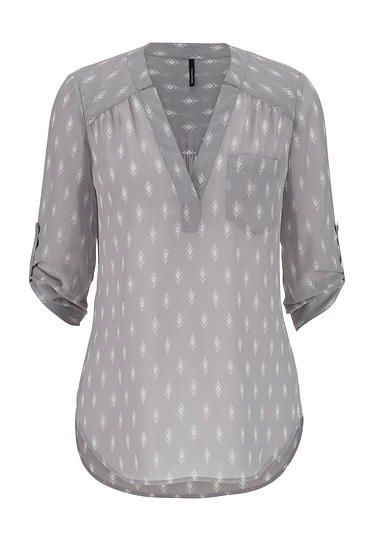 the perfect blouse in diamond pattern with one pocket (original price, $29) available at #Maurices
