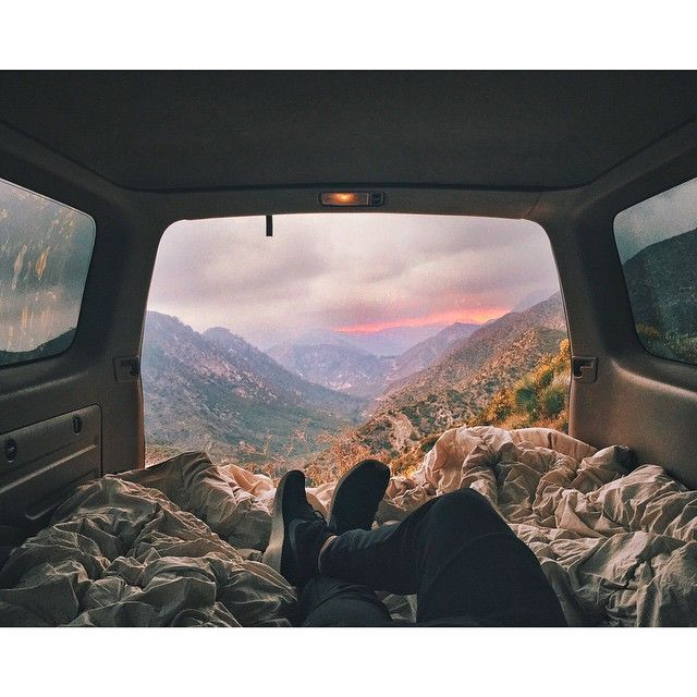 such a wonderful view in the mountains! would!d love to have a van like this…